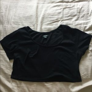 Wild Fable Cropped Black Tee